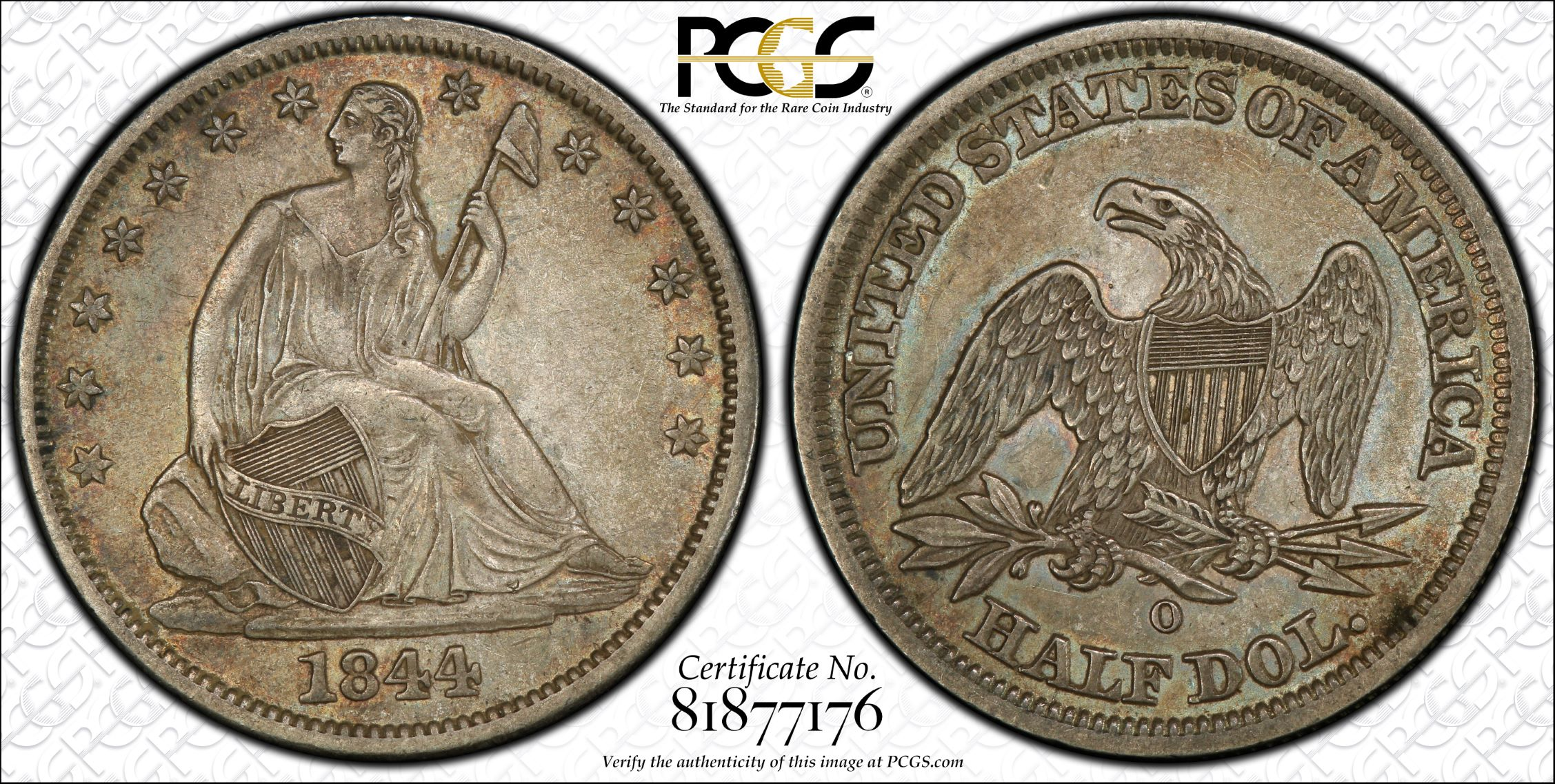 GFRC Open Set Registry - J B N 1844 Seated  50C