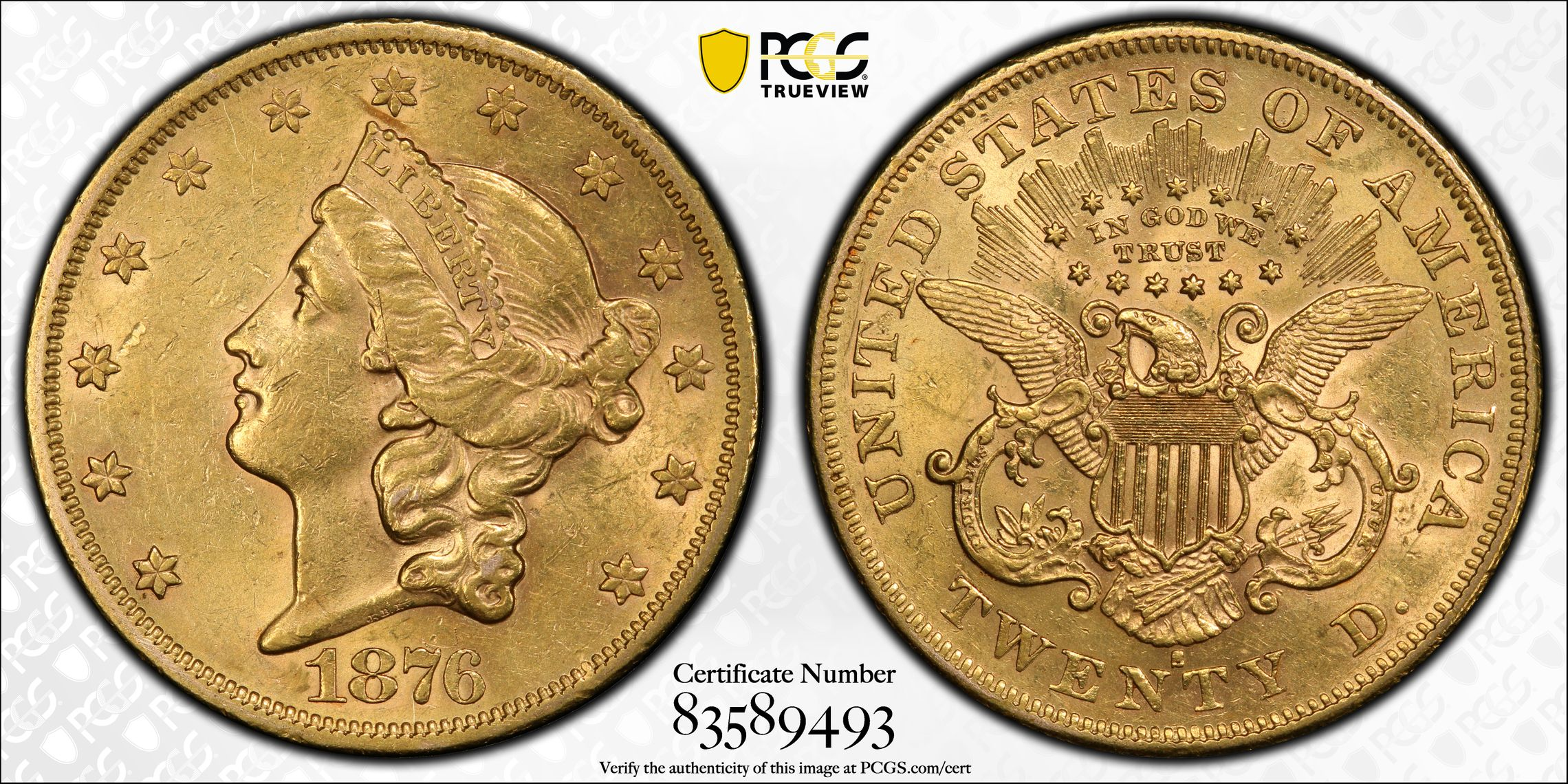 GFRC Open Set Registry - Alexandria 1866 - 1876 Gold Liberty G$20