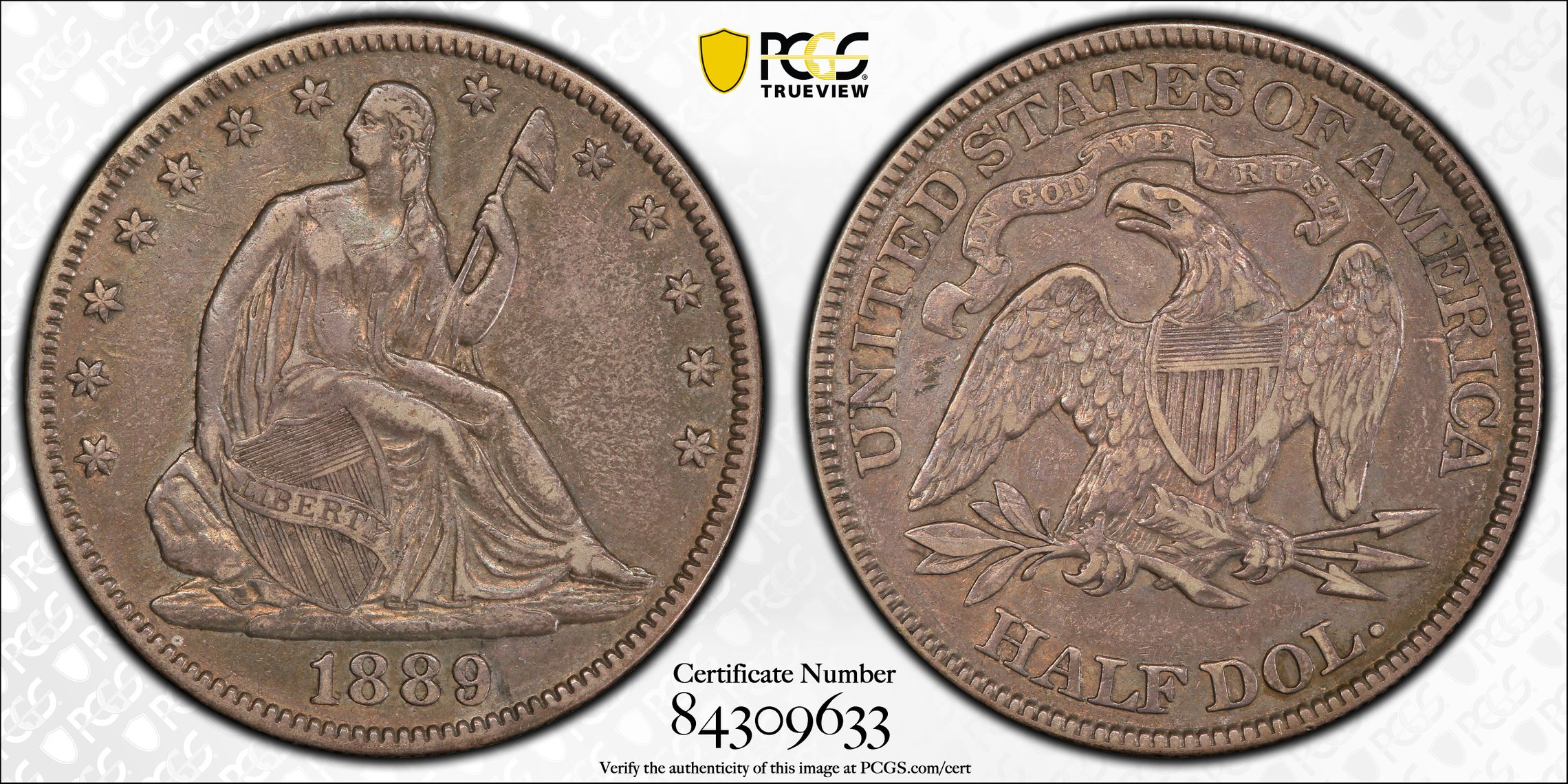 GFRC Open Set Registry - J B N 1889 Seated  50C