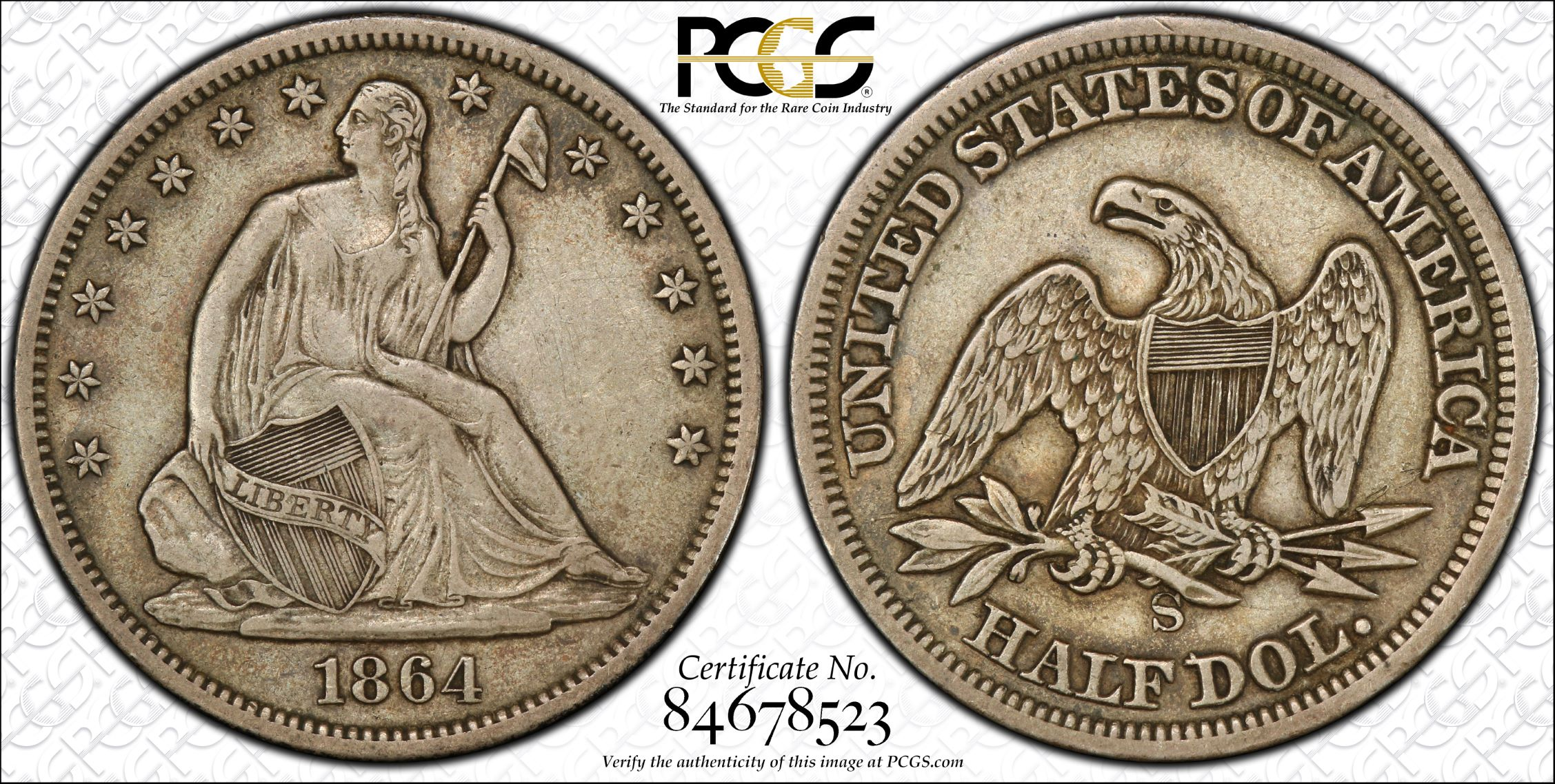 GFRC Open Set Registry - J B N 1864 Seated  50C