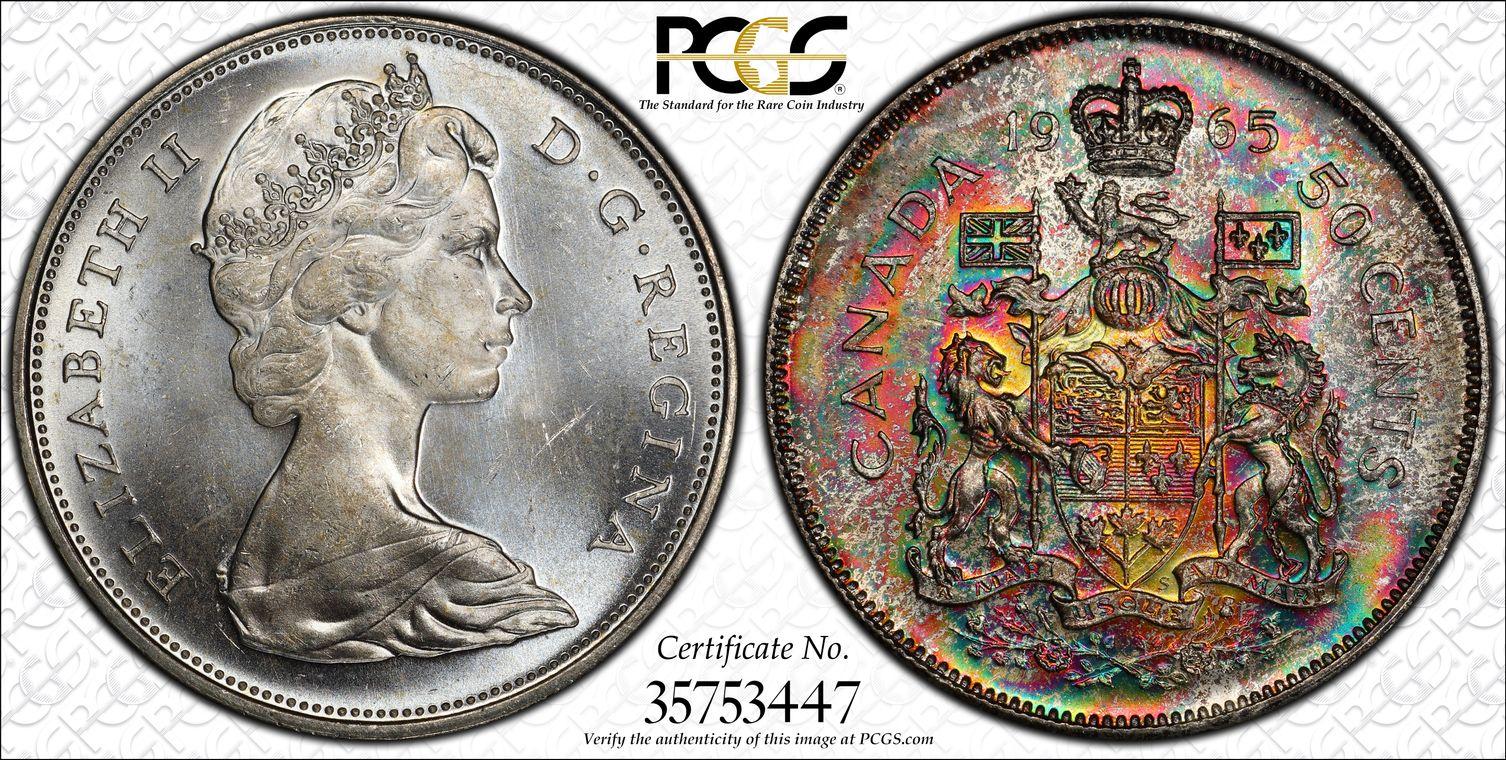 PCGS Set RegistryR Collectors Showcase Canada Toned Coins